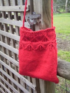 Free Knitting Pattern – Lace Border Bag
