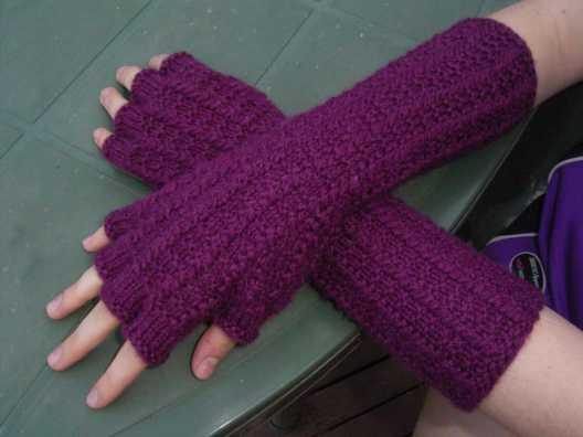 Ill Knit By Moonlight Fingerless Mitts